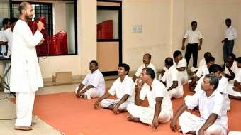 Upa-Yoga Session in Trivandrum Central Jail