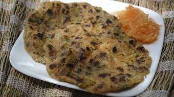 Stuffed Paratha with Raw Papaya & Ginger